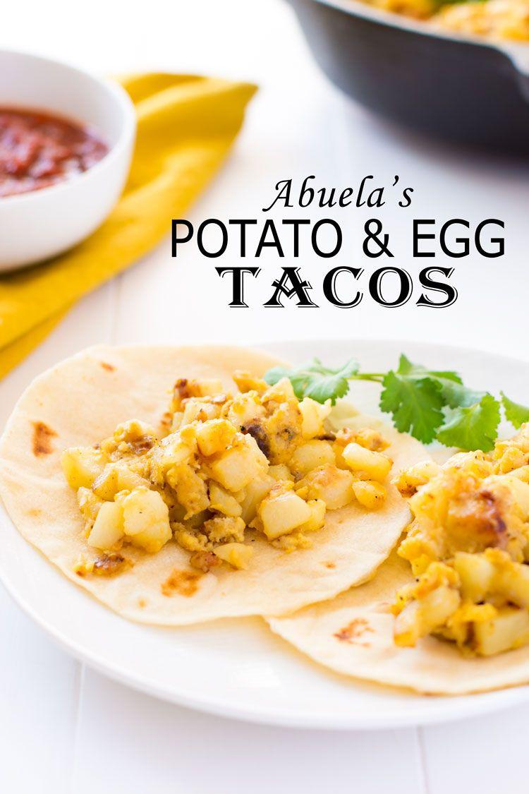 Potato And Egg Tacos Papas Con Huevo In 2020 Homemade Breakfast Recipes Healthy Breakfast Recipes Mexican Food Recipes Easy