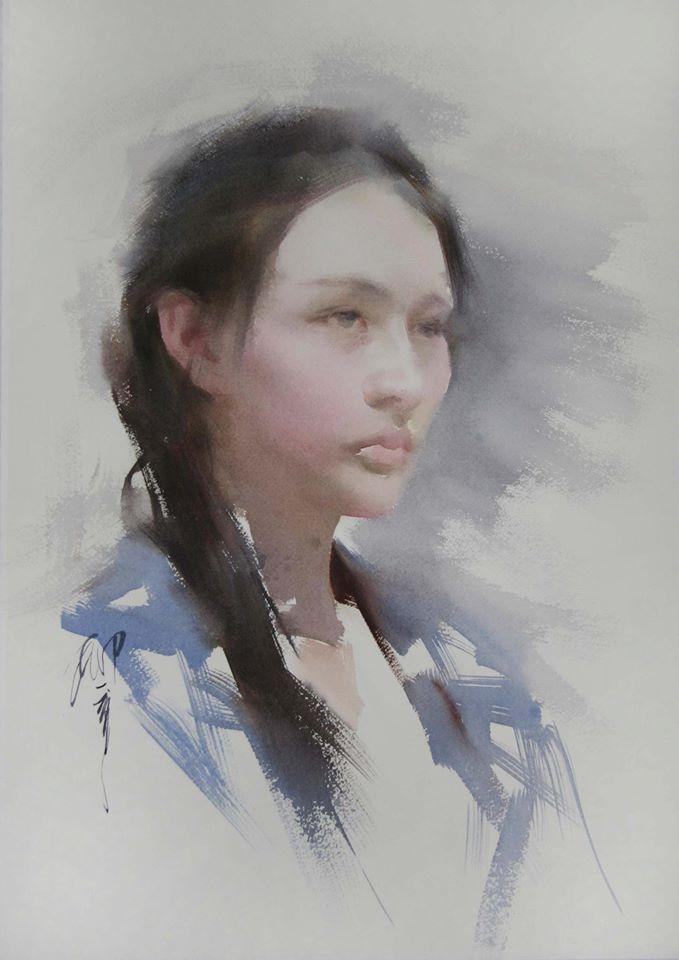 Liu Yi Watercolor Paintings Watercolor Portrait Painting