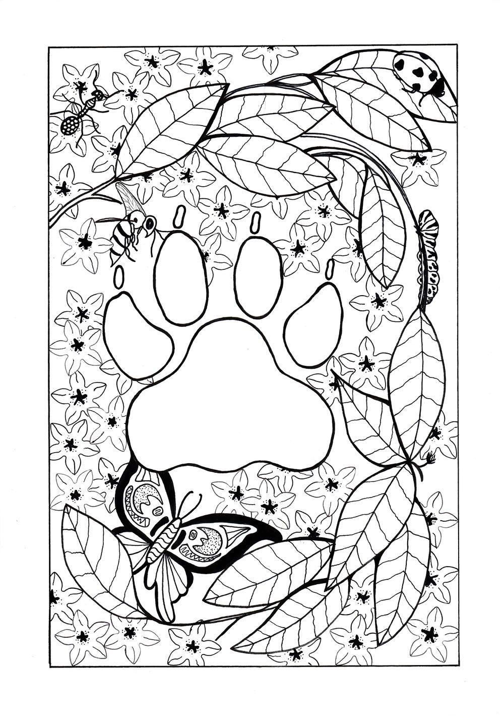 Be transported to the African continent when you color this FREE adult  coloring page.