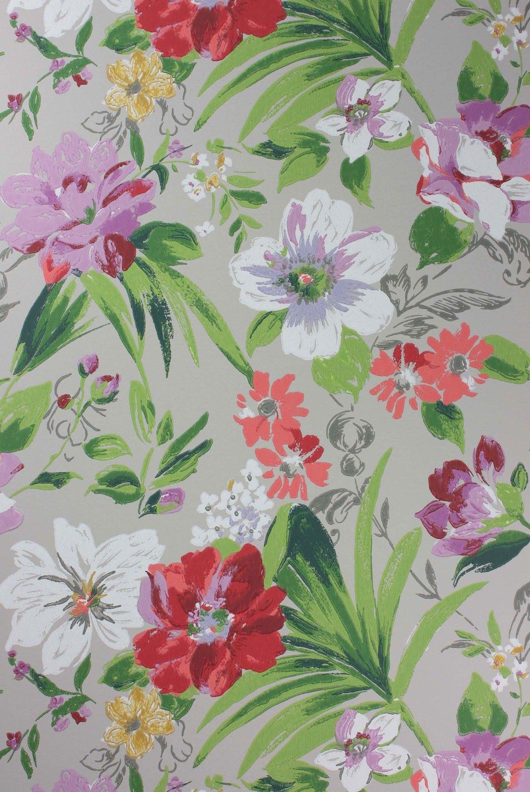 ROSSLYN WALLPAPER Nina Campbell Pink and green wallpaper