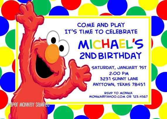 Sesame St Birthday Invitations 100 Each By PaperMonkeyCompany