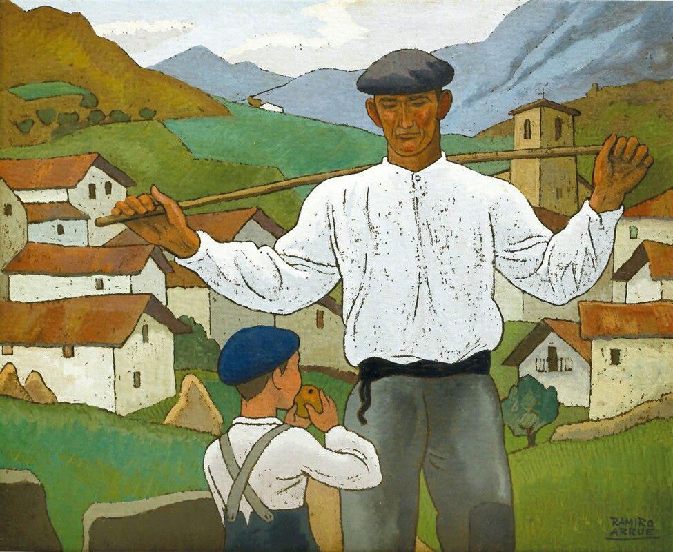 Euskal Herria Lehen Pays Basque D Antan Ramiro Arrue Le Peintre De La Vie Basque Basque Pays Basque Image De Ville