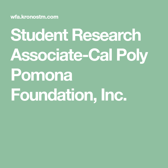 student research associate