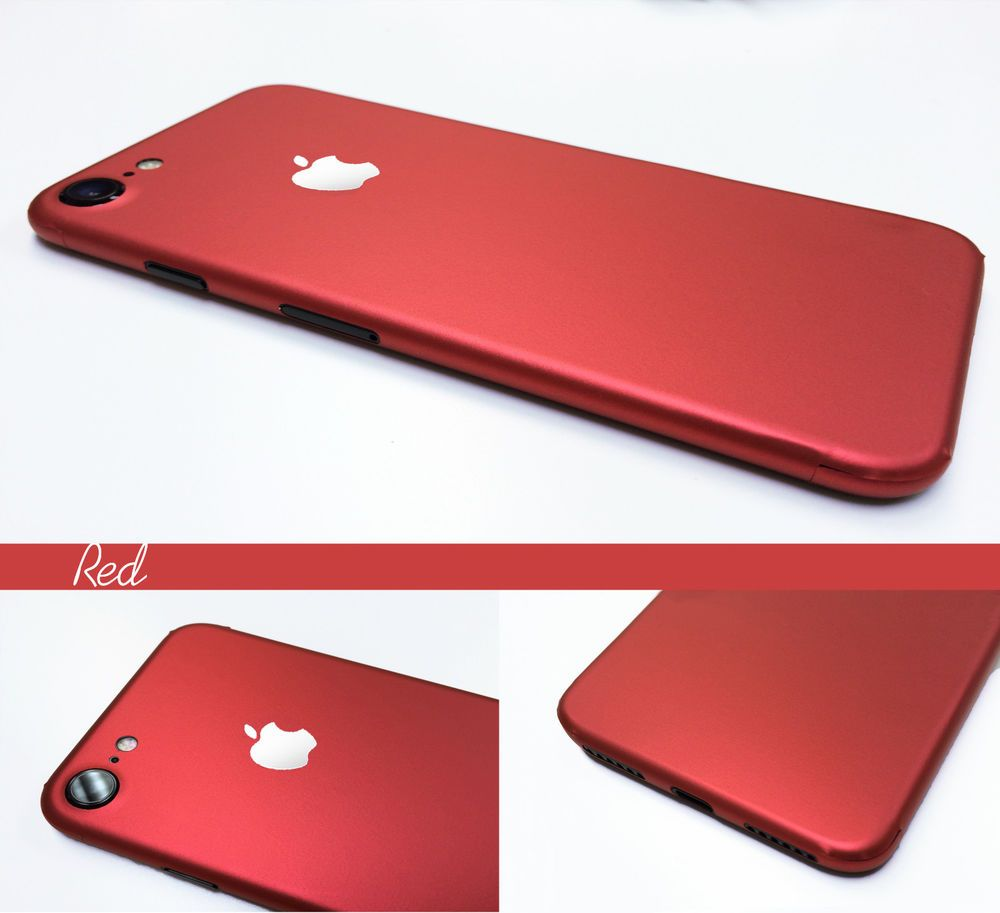 sports shoes ac79b 0bf65 Red iPhone 7 6 6S Plus -- Metal Effect Body Skin Sticker Wrap Decal ...
