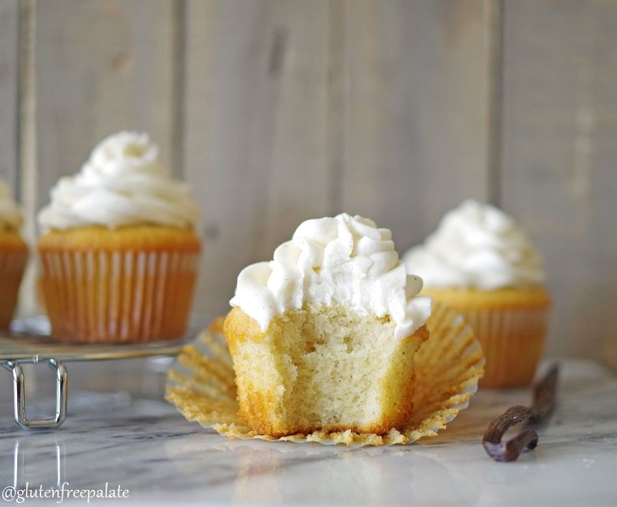 These Gluten Free Vanilla Bean Cupcakes Are Dairy Free Simple To Make And Lend A Bak Gluten Free Vanilla Gluten Free Cake Recipe Gluten Free Cupcakes Vanilla