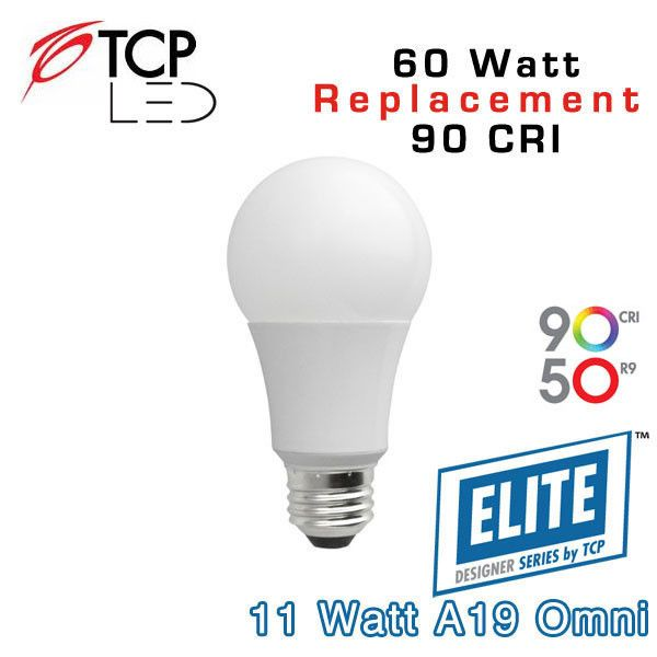 Tcp Led A19 Omni Directional 60 Watt Equal Led11a19dod 90 Cri Earthled Com Led Light Bulbs Watt Led