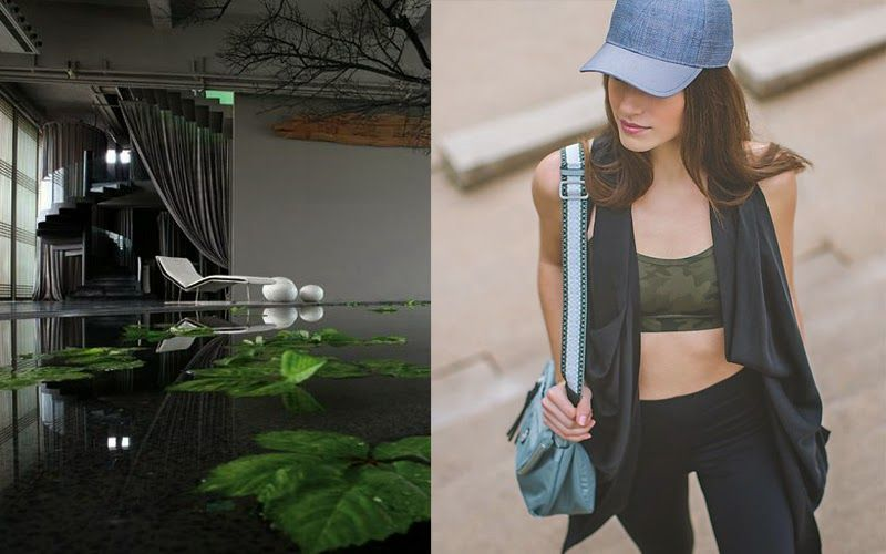 home her Lululemon athletic wear and zen