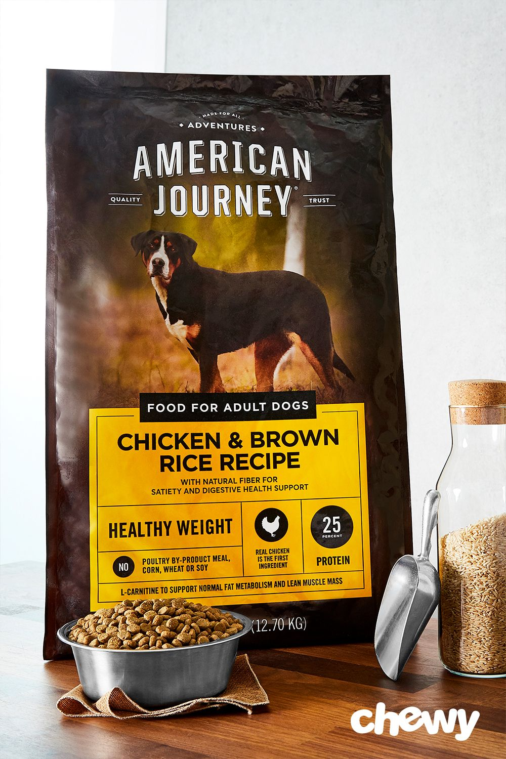 American Journey Active Life Formula Healthy Weight Chicken Brown Rice Vegetables Recipe Dry Dog Food 28 Lb Bag Chewy Com Healthy Weight Dry Dog Food Dog Food Recipes