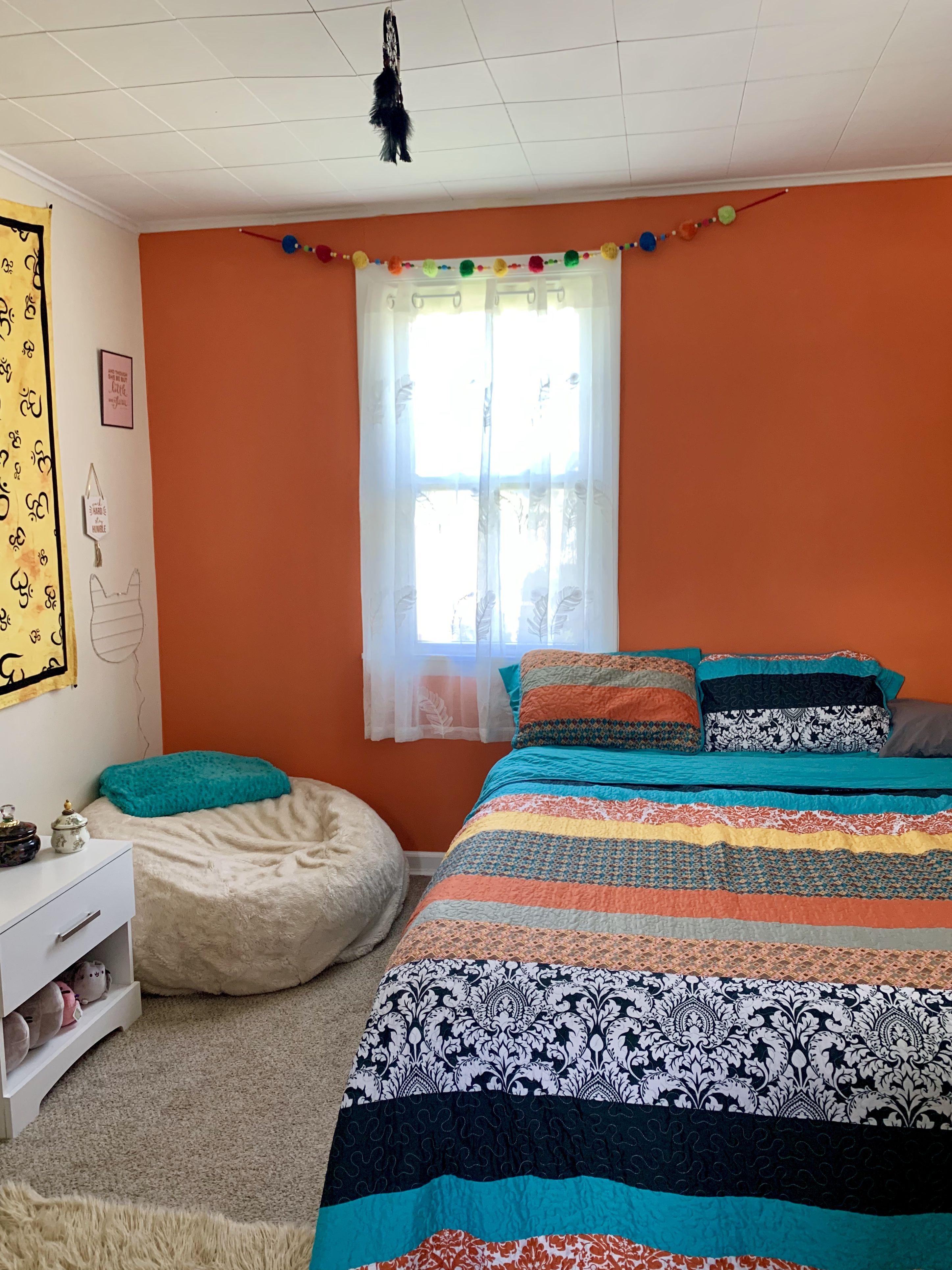 Boho bedroom decor boho bedroom decor orange accent