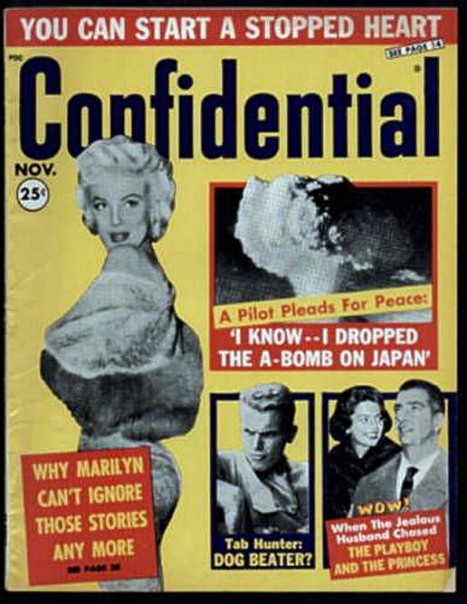 Confidential magazine | Marilyn monroe movies, Marilyn