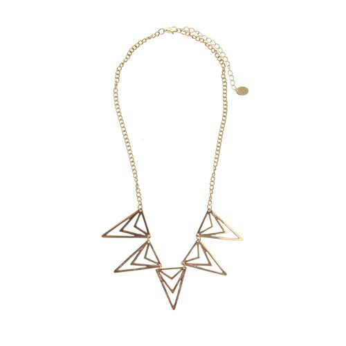 Gold Geometric Zig Zag Necklace