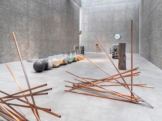 Exhibition View Entitas Konig Galerie Berlin Germany 2018 Photo Roman Marz Eadweard Muybridge Installation Stainless Steel Tubing