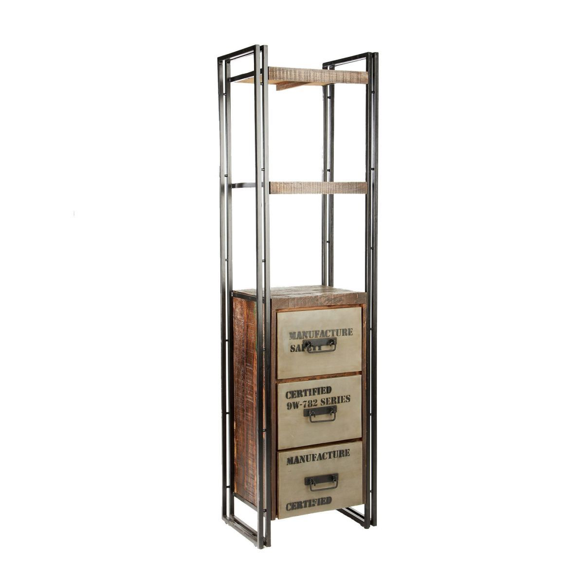 das massivholz regal im industrial chic stil sorgt f r einen beeindruckenden fabrik look in. Black Bedroom Furniture Sets. Home Design Ideas