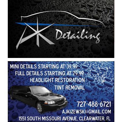 Auto Detailing Business Cards | Business Cards | Pinterest ...