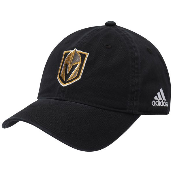 3c188cff53c56a real mens vegas golden knights adidas black basic primary logo adjustable  hat 49064 aa652