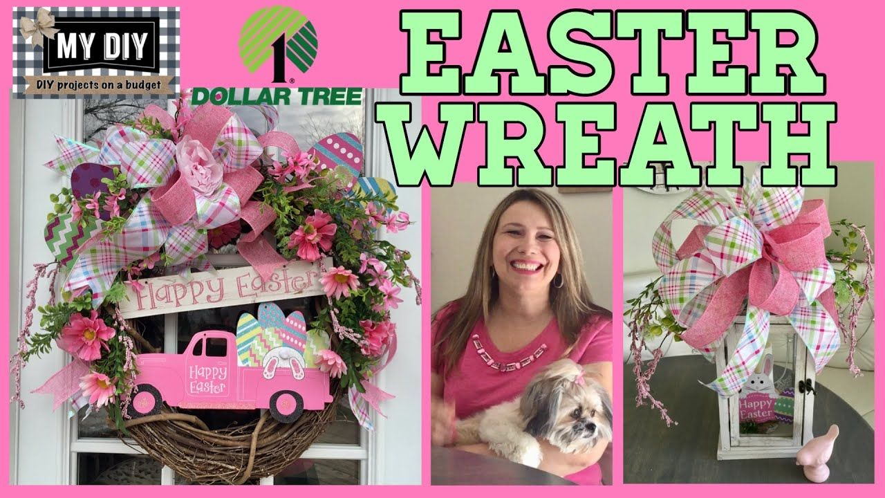 Photo of Pink truck wreath | Easter wreath dollar tree DIY | Simple tutorial on the wine wreath