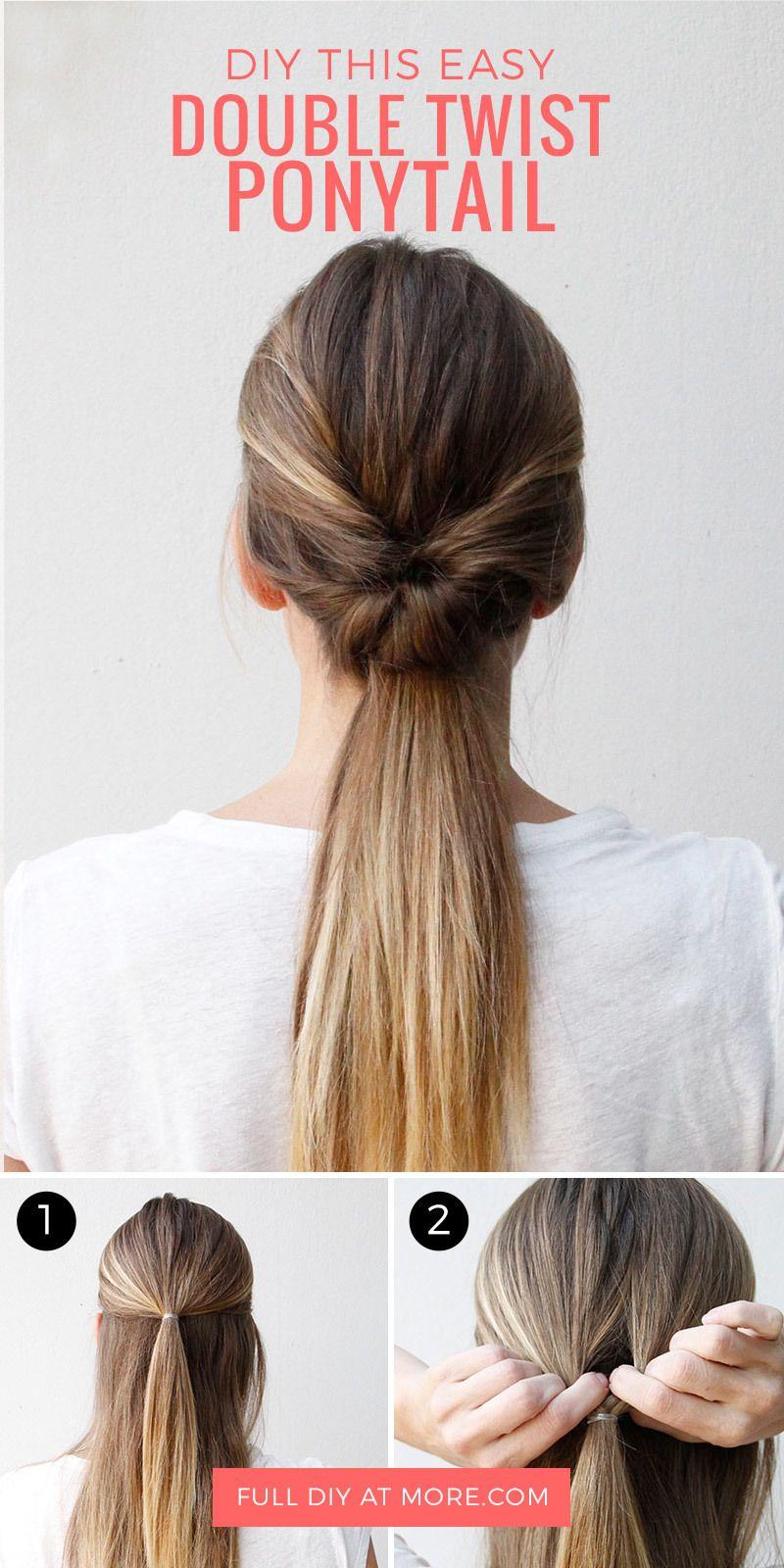 double-twist ponytail