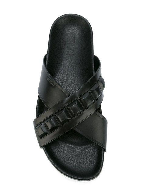 38286a76 Shop Fendi embellished slip-on sandals. | antep | Sandals ...