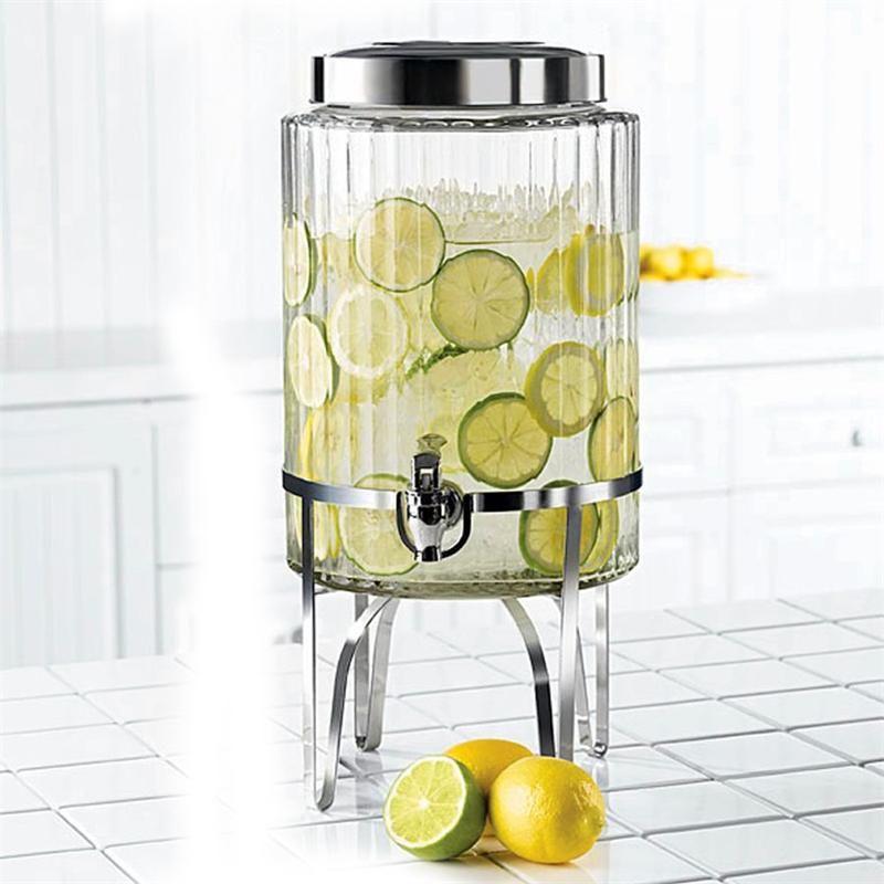 Pin By Anesha Haresh On Re Freshness Drinks Glass Beverage Dispenser Beverage Dispensers Lemonade Drinks Glass water dispenser with spigot