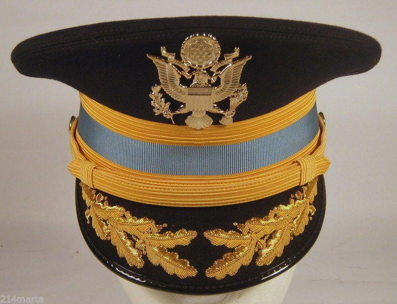 e33affd6d0e US Army Field Officer Infantry Service Dress Blues Uniform Hat Cap Bullion