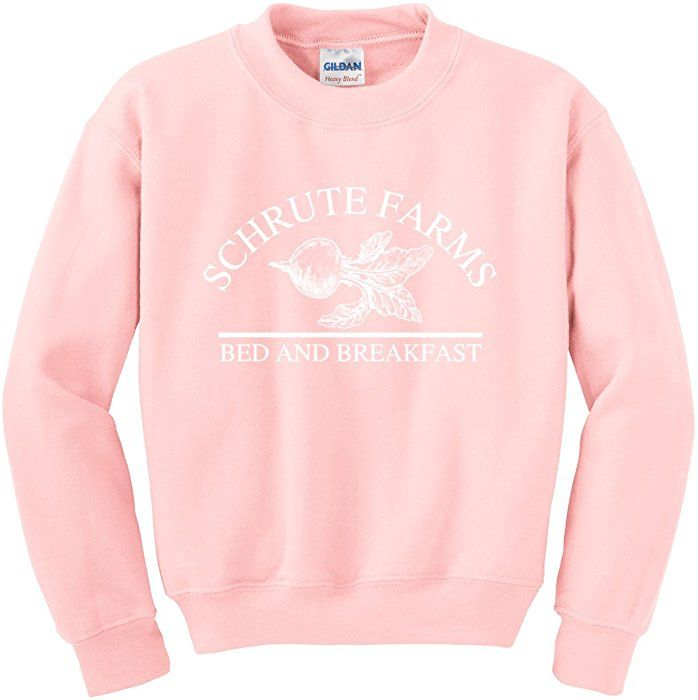 cd8b90e09 Amazon.com: Nuff Said Schrute Farms Beets Bed Breakfast Sweatshirt Sweater  Pullover - Unisex (Medium, Light Pink): Clothing