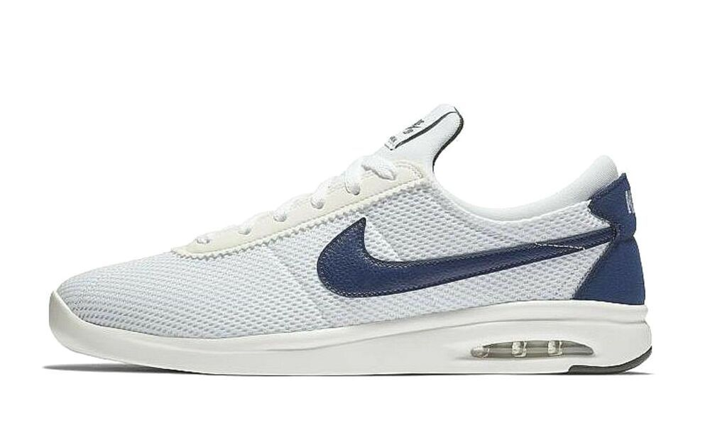 Nike SB Air Max Bruin Vapor TXT Shoes Mens 11 White Blue