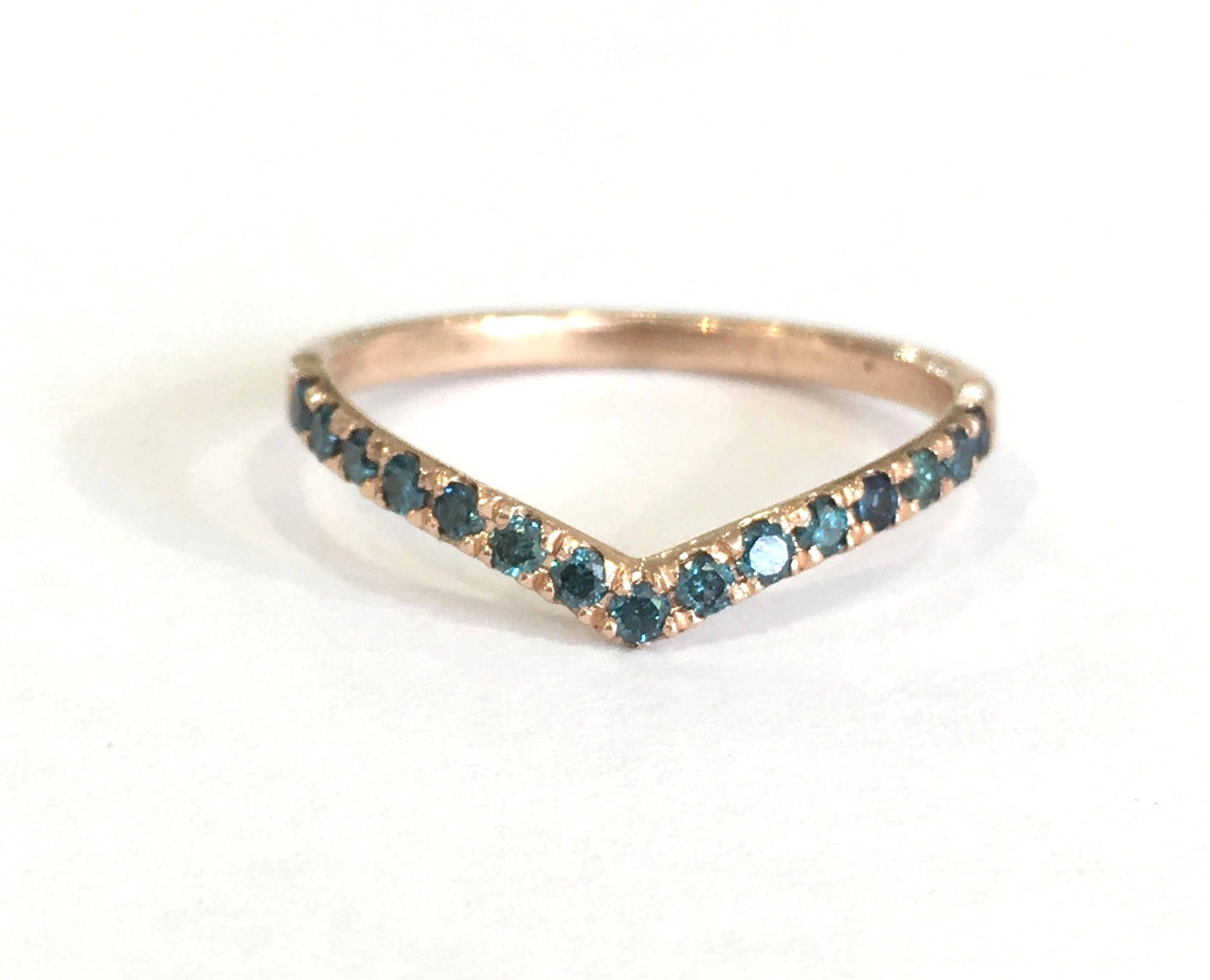 jewellery for pin diamond band wedding women rose blue bands ring gold curved