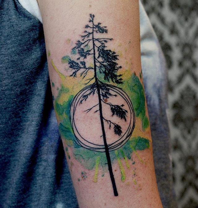 Crazy Tree Tattoo Tree Treetattoo Watercolour Watercolortattoo