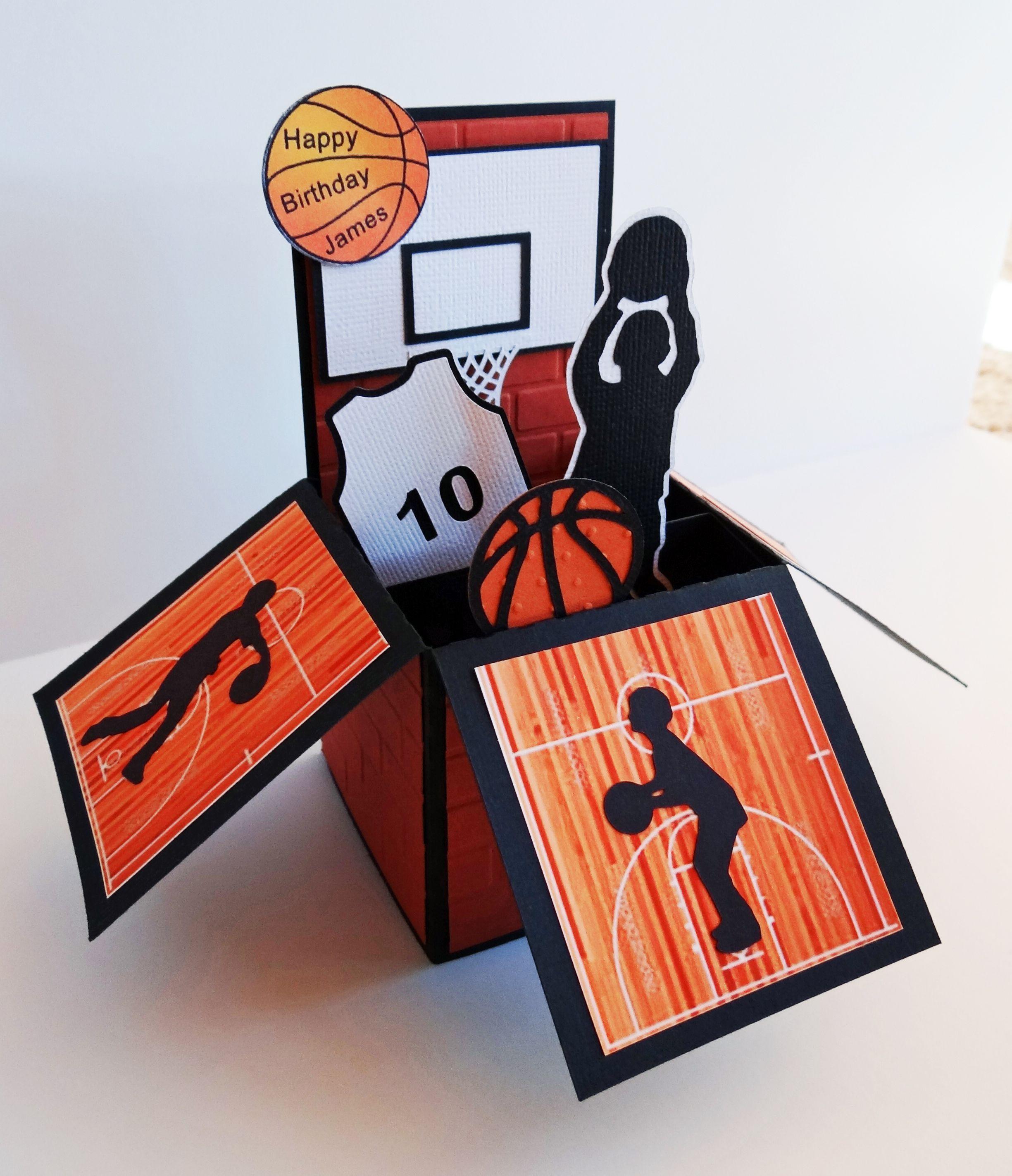 Basketball card in a box basketball birthday cards kids