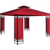 Tonnelle de jardin LORCA rouge - 3x3m - Pavillon de réception ...