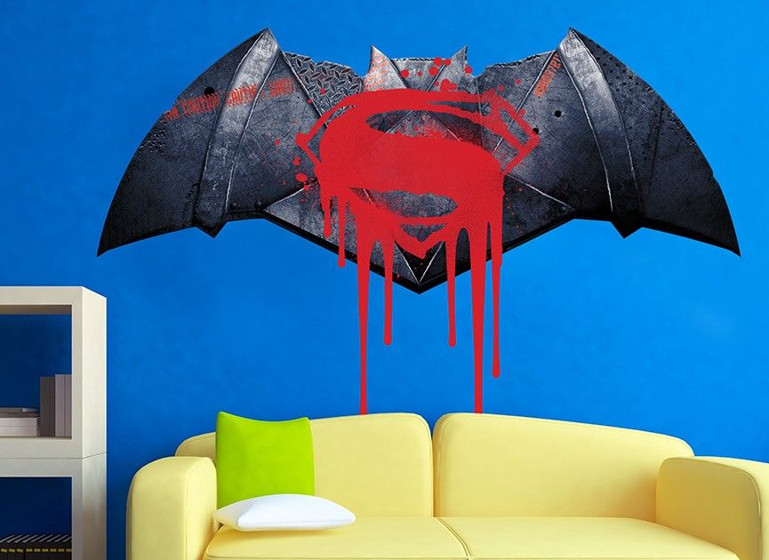 bring the fandom to any room with this awesome batman v superman