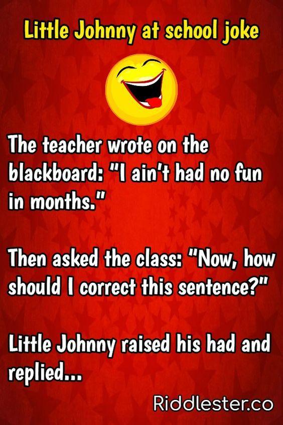 Little Johnny at school joke