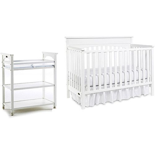 Graco - Lauren 4-in-1 Crib, Changing Table & Mattress, White | For ...