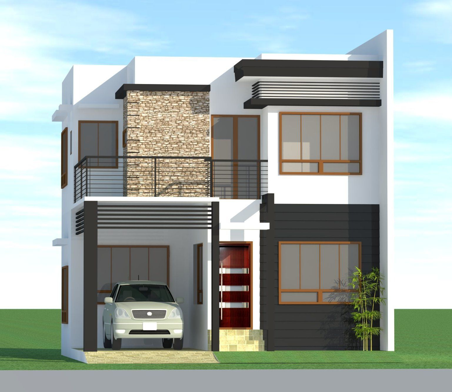 Philippines house design images 3 home design ideas for Front elevations of duplex houses