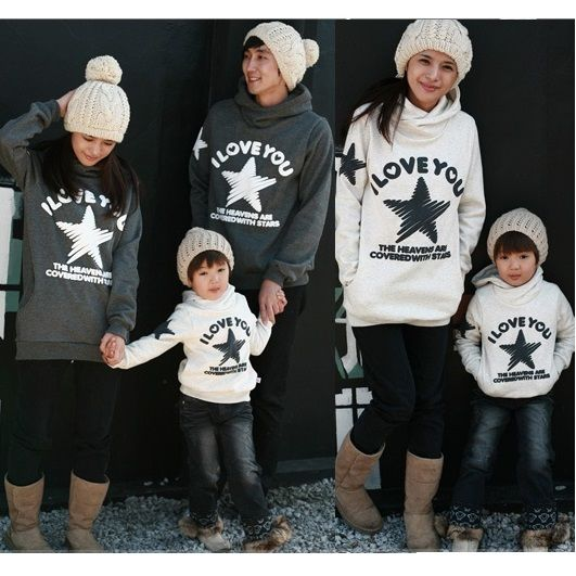 4f8938dd Casual Family Clothing Hoodies Clothes Mother/Mom and Daughter Clothes  Father Son Matching Clothing Family Style Set CP26