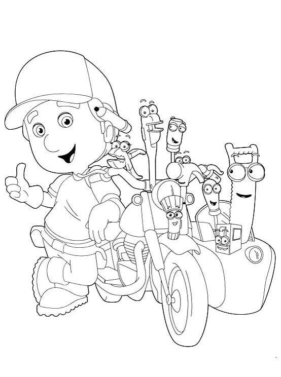 Printable The Tools With Handy Manny Coloring For Kids Coloring