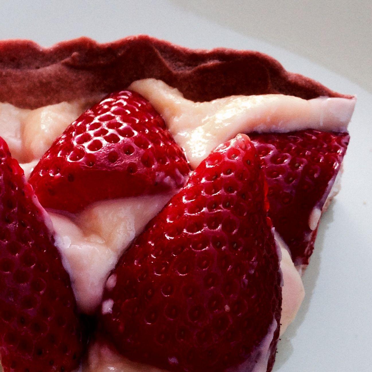 mom's strawberry tart...