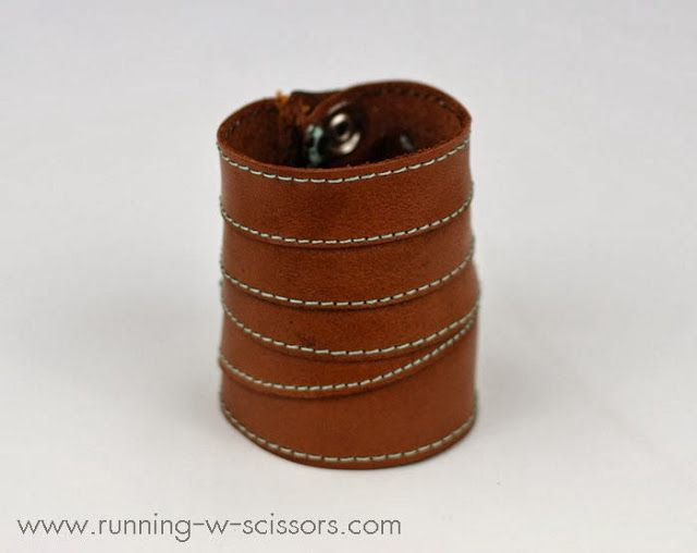Running With Scissors: Wrapped Leather Cuff Tutorial