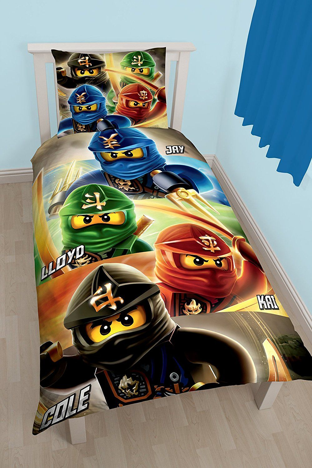 lego ninjago bettw sche 2 tlg 80x80 135x200 cm 100 baumwolle deutsche standard gr e. Black Bedroom Furniture Sets. Home Design Ideas