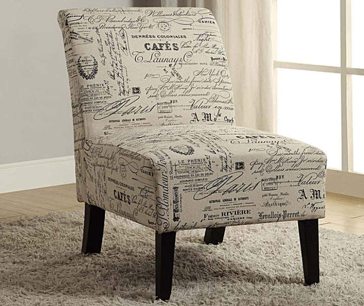 Awe Inspiring Shelby Script Armless Accent Chair Big Lots Decor Accent Dailytribune Chair Design For Home Dailytribuneorg