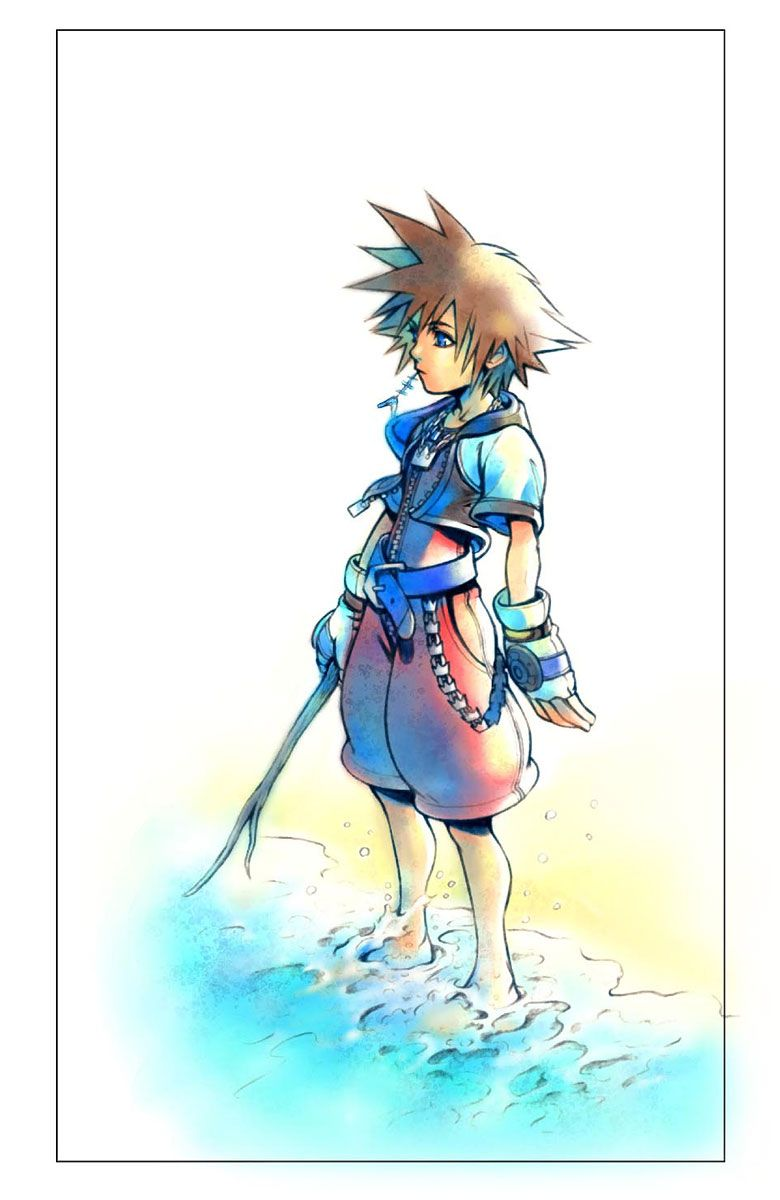 Kingdom Hearts Sora on The Beach The music still rings in my ears