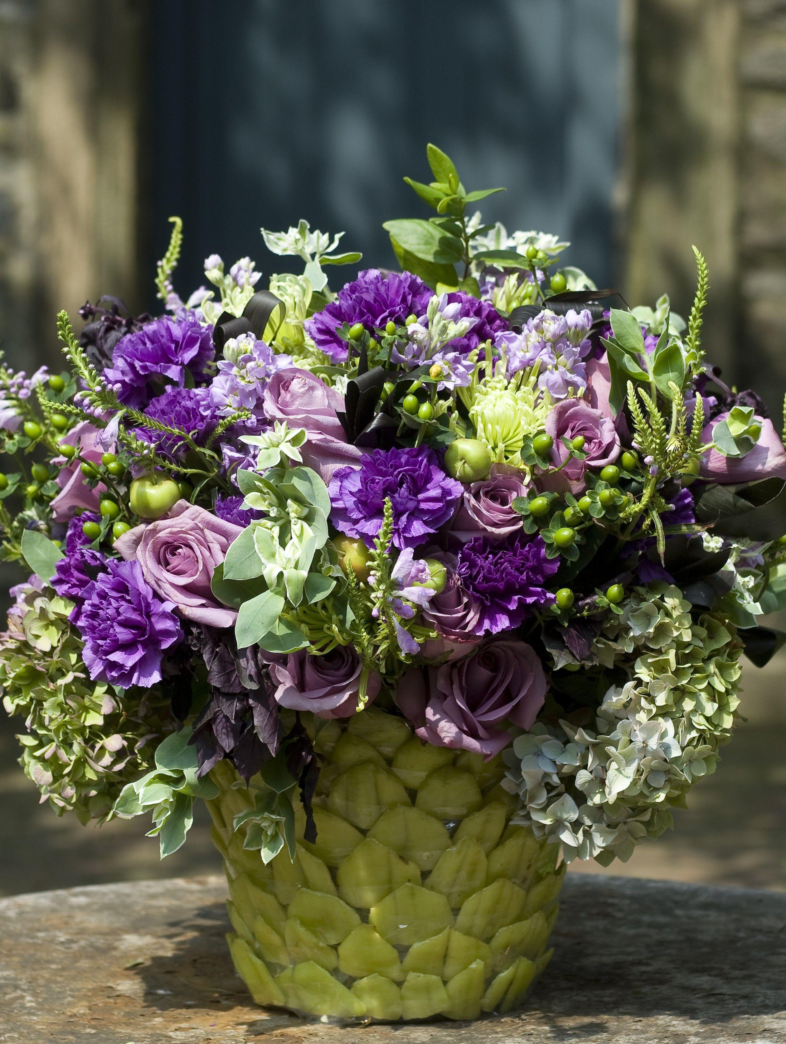 For an elegant companion to roses, place individual cymbidium ...
