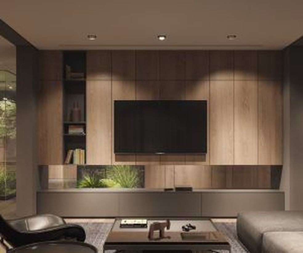 46 Rustic Tv Wall Design Ideas For Home Modern Home Off