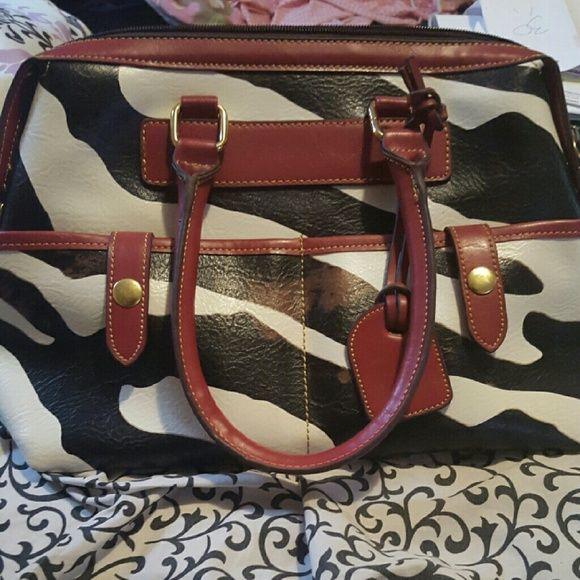 Red zebra bag Very cute zebra handbag Bags Shoulder Bags