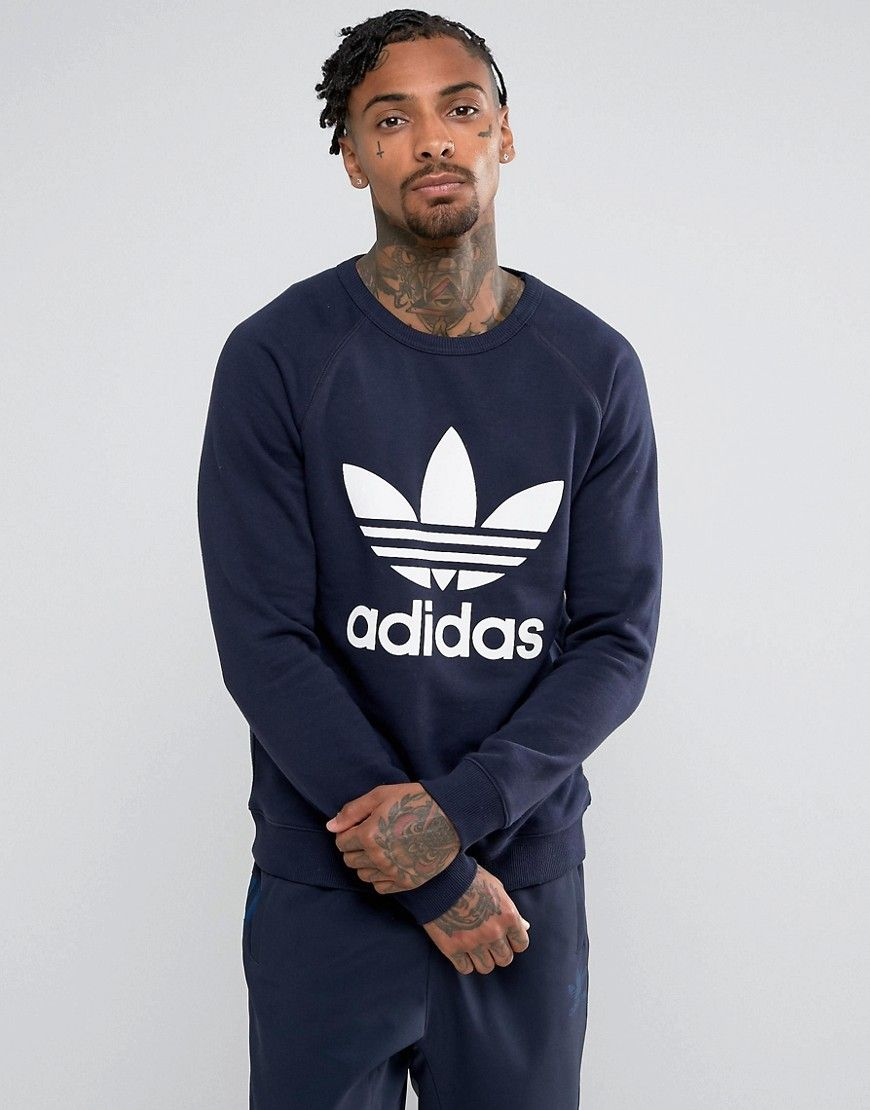 Adidas Originals Men/'s Trefoil Crew Neck Sweatshirt