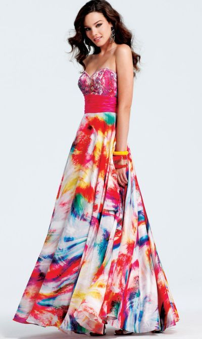 1b259d11f7a Popular Faviana White Splash Print Plus Size Prom Dress ... .