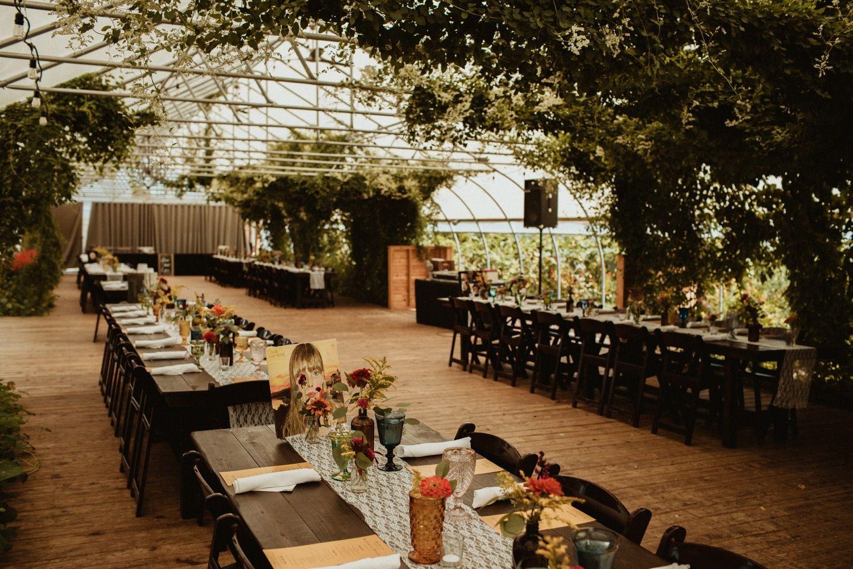 Michigan greenhouse wedding venue inspiration Michigan