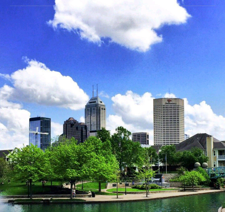 Downtown Indianapolis City Skyline Skyline Downtown