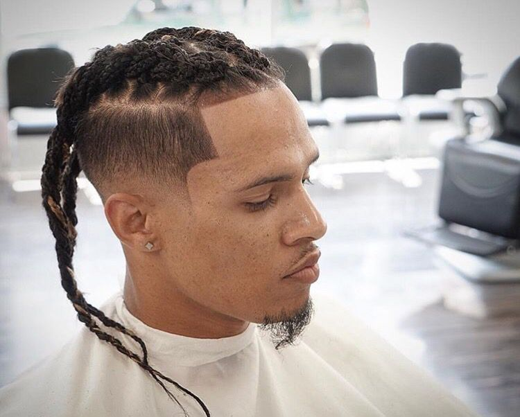 hightop dreaded braided hair with fade cuttery dare to