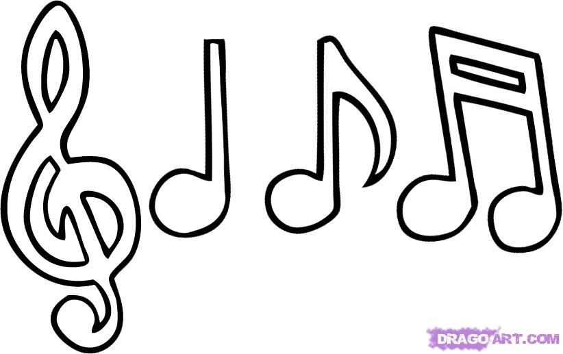 Line Art Music Notes : How to draw music notes step by musical